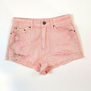 BDG High Rise Dree Cheeky Cut Off Frayed Size 27